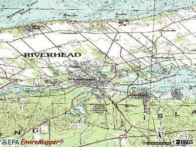 Riverhead topographic map
