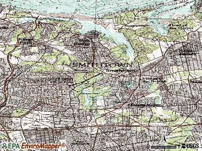 Smithtown topographic map