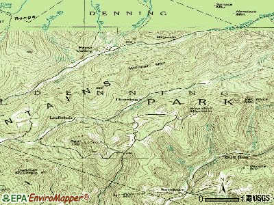 Denning topographic map