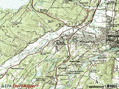 Hurley topographic map