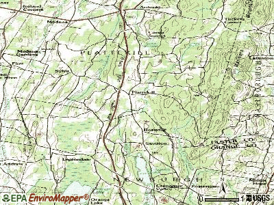 Plattekill topographic map