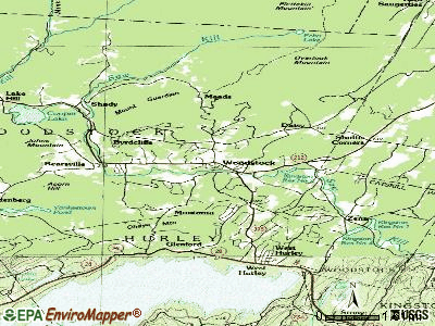 Woodstock topographic map