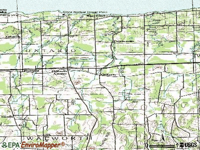 Ontario topographic map