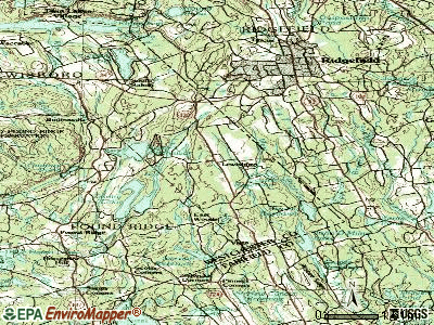 Lewisboro topographic map