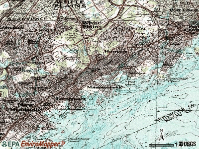 Mamaroneck topographic map