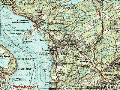 Ossining topographic map