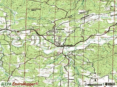 Wrightsville topographic map