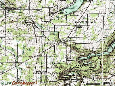 Castile topographic map