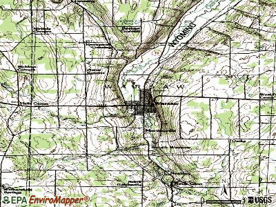 Warsaw topographic map