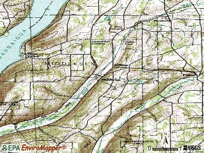 Middlesex topographic map