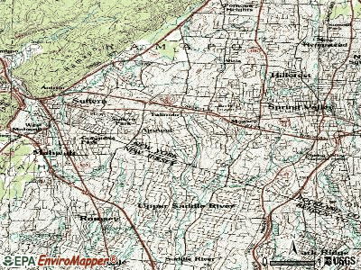 Airmont topographic map