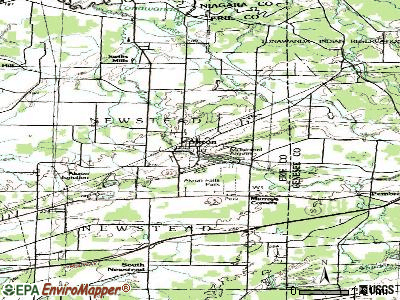 Akron topographic map