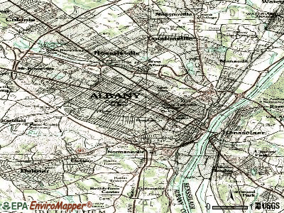 Albany topographic map