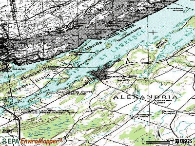 Alexandria Bay topographic map