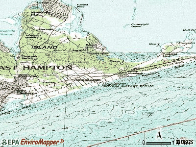 Amagansett topographic map