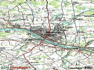 Amsterdam topographic map