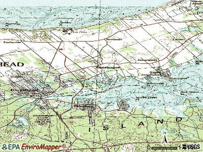 Aquebogue topographic map