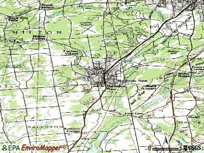 Ballston Spa topographic map