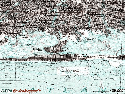 Barnum Island topographic map