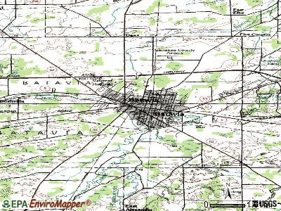 Batavia topographic map