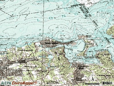 Bayville topographic map