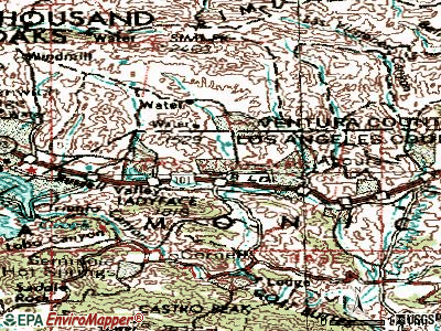 Agoura Hills topographic map
