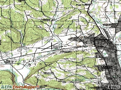 Big Flats Airport topographic map