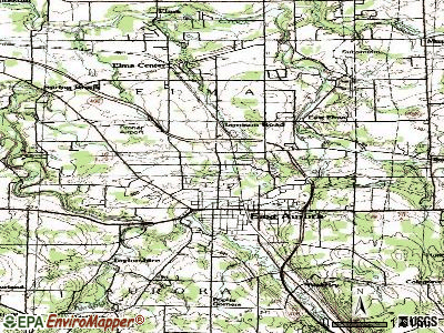 Billington Heights topographic map