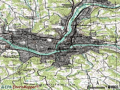Binghamton topographic map