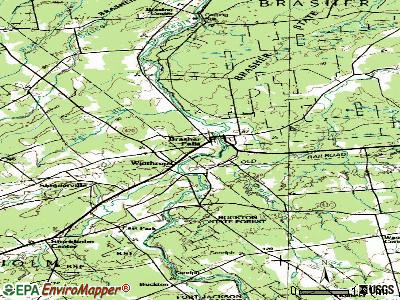 Brasher Falls-Winthrop topographic map