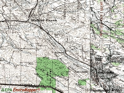 Alamo topographic map