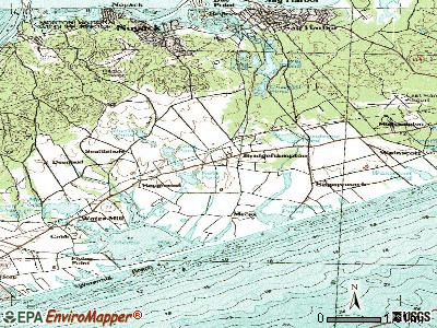 Bridgehampton topographic map