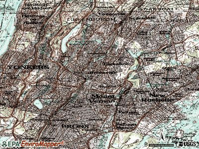 Bronxville topographic map