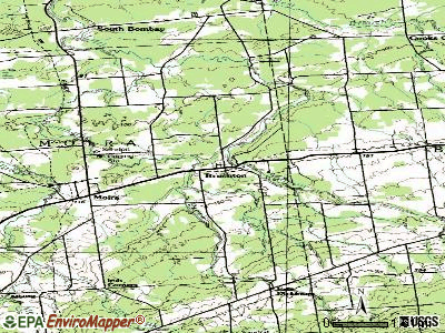 Brushton topographic map