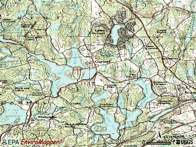 Canandaigua topographic map