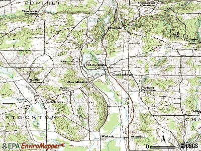 Cassadaga topographic map