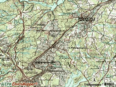 Chappaqua topographic map