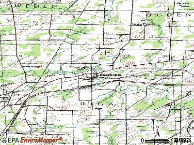 Churchville topographic map