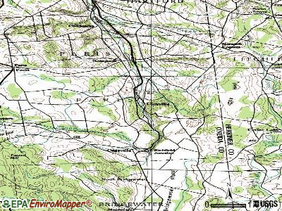 Clayville topographic map
