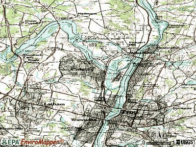 Cohoes topographic map
