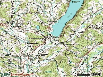 Cooperstown topographic map