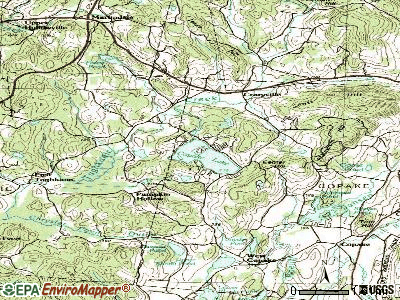 Copake Lake topographic map