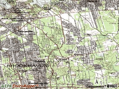Coram topographic map