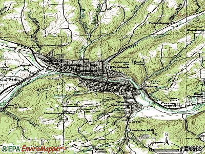 Corning topographic map
