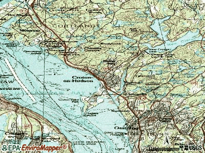 Croton-on-Hudson topographic map