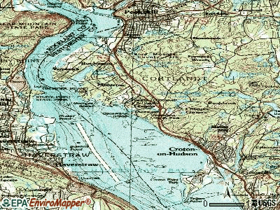 Crugers topographic map