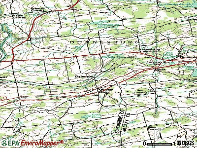 Delanson topographic map
