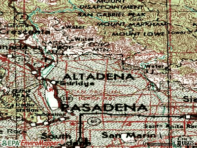 Altadena topographic map