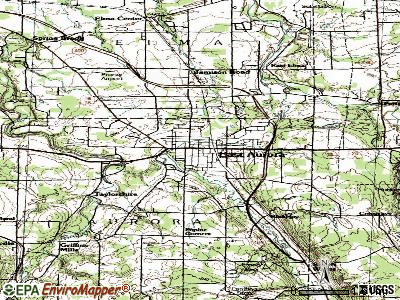 East Aurora topographic map