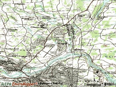 East Glenville topographic map